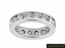 1.55Ct Round Diamond Classic Eternity Wedding Band Ring Platinum F VS2 Channel