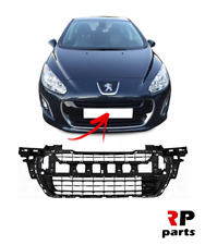 FOR PEUGEOT 308 11 - 14 NEW FRONT BUMPER INNER CENTER GRILLE CLOSED STYLE BLACK
