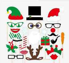 Christmas Photo Booth Props, 24 pcs, Attached NO DIY NEEDED, Ships Fast US