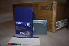 Box of 10 New Sony DVCAM PDV-64N  Video Cassette