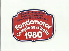 sticker adesivo  RARO FANTIC MOTOR CAMPIONE D' ITALIA 1980