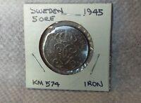 Sweden 1945, 5 Ore