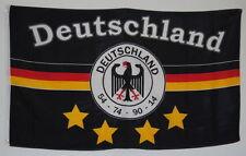 FAHNE FLAGGE D 0216 DEUTSCHLAND 4 STERNE MEINE MANNSCHAFT FUSSBALL SAMMLER D 7