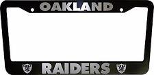 2 (PAIR) Oakland Raiders Black Plastic License Plate Frame Truck Car Van