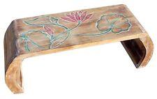 Opiumtisch Beistelltisch Blumentisch Brücke Handarbeit hell Lotos bunt Tisch 15L