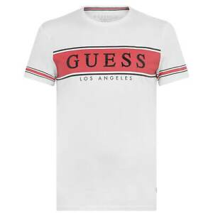 Mens Guess Banner T Crew Neck Shirt New