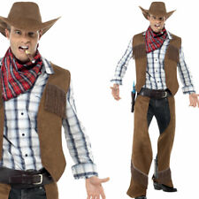 Mens Cowboy Fancy Dress Costume Cow Boy Outfit  Ref 20471 by Smiffys New
