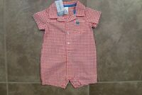 Carter's Baby Boys One Piece Short Sleeve Summer Outfit Size 3 6 months Romper