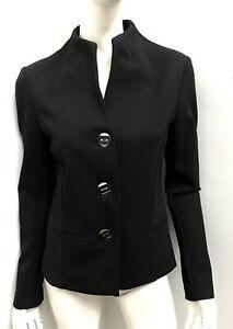 JOSEPH RIBKOFF black stretch ponte corporate Jacket - sz Aus 10