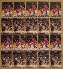 LOT OF (20) 1993-94 Hoops #28 #257 AS ALL-STAR Michael Jordan