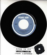 """PEARL JAM  Given To Fly 7"""" 45 rpm EP vinyl record + juke box title strip RARE!"""