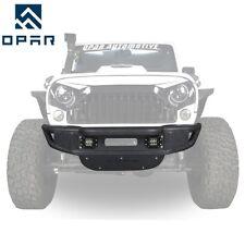 OPAR Tubular Front bumper w/ Winch Plate for 07-17 Jeep Wrangler JK& Unlimited