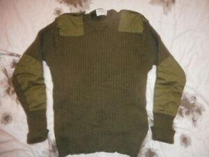1981 SIZE 4 british army issue WOOL old skool JUMPER PULLOVER falklands war era