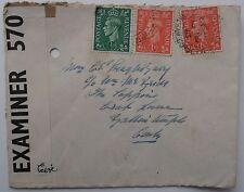 Enveloppe WW2 ouvert par examinateur 570 de Wareham Dorset pour ballintemple Cork