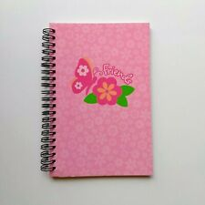 NEW Claire's y2k Pink Flowers Butterfly Friends Ruled 100 Page Spiral Notebook