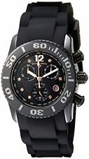 Swiss Legend Women's Black Ceramic Case & Rubber Strap Quartz Watch 10128-01-RA