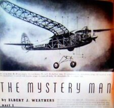 """MYSTERY MAN PLANS with PATTERNS for 72"""" Gull Wing OT Free Flight Model Airplane"""