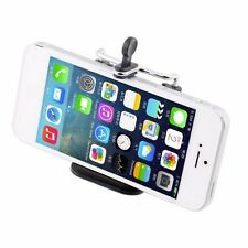 Stativ Adapter mit Gewinde Aufsatz für Handy/Smartphone einklemmbar handy black