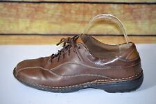 Rockport Womens Audrey Taupe Brown Leather Oxford Walking Shoes APW73303 9M