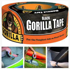 Water Resistant Duct Tape Roll Rugged Thick Adhesive Leak Patch Black Heavy duty