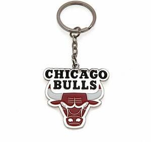 Official Chicago Bulls NBA Basketball Team Badge Metal Keyring