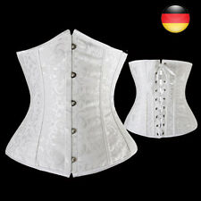 Womes Jacquard  Steampunk  Goth  Waist Training Corset Tops Bustier Hollow EM