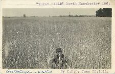George Congdon In The Wheat Field, North Manchester IN Indiana RPPC 1911