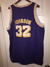 Authentic NBA Hardwood Classics Jersey LA Lakers #32 Magic Johnson Mitchell&Ness