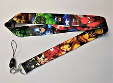 "Marvel's Superheroes 19"" Multi-Color Repeat Character Lanyard"