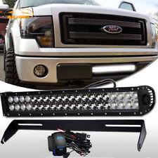 "For Ford F150 20""INCH  LED Work Light Bar Work Spot Flood +Bupmer Mount Brackets"
