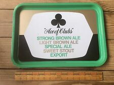 Ace Of Clubs Ale & Stout, Export Beer Tray , Advertising, Vintage Metal Tray,