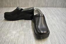 Klogs Bria Womens Leather Clogs Display Model Black 9 M