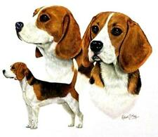 BEAGLE 3 Dogs RM on Fabric -One 16 inch Panel to Quilt or Sew.Actual Pic is 8x10