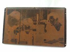 "ANTIQUE /VINTAGE COPPER PRINTING PLATE "" OPHTHALMOLOGY ? """
