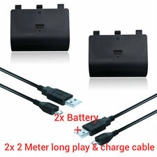 2X Battery Pack Kit for Xbox ONE Play and Charge Rechargeable battery Kit Pack