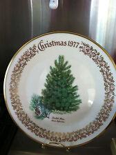 Lenox Annual Limitd edition Christmas plate scotch pine 1977 22k gld plated rim