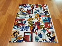 Awesome RARE Vintage Mid Century retro 70s 60s hippie Woodstock 5th Ave. fabric!