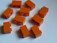 Lego 10 briques oranges set 60036 3818 10133 4413 / 10 orange bricks 1 x 2
