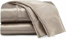 Seduction Satin Solid Sheet Set, Queen, Champagne