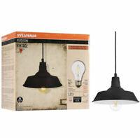 ✅SYLVANIA Hudson Vintage Pendant Light, Antique Black Dimmable LED Brand New!!👀