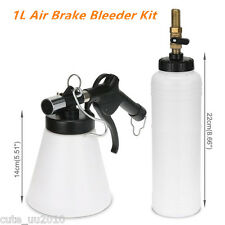 1L Air Brake Oil & Fluid Extractor Bleeder Kit Pneumatic Clutch Vacuum Bottle