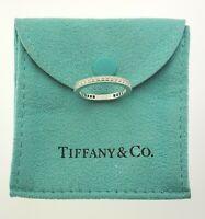 Tiffany & Co. 2mm Diamonds Eternity Wedding Band Full Circle Platinum Size 6us