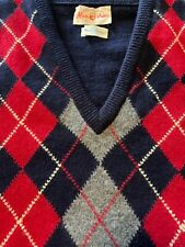 Vintage Alan Paine 100% Wool 38/Medium Argyle Sweater Vest
