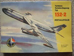 Kranich Modellbogen Verkehrsflugzeug Typ 152-2  Verlag Junge Welt Berlin 1960