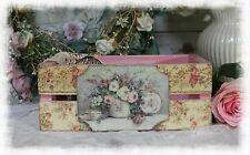 ~ Shabby~Cottage~Chic~Wooden~Stacking Box~French~Vintage Style Romantic Decor ~
