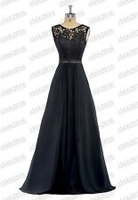 Long Lace Formal Wedding Party Dresses Bridesmaid Evening Prom Ball Gown 6-26