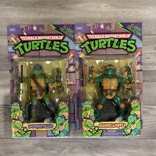 Lot Of 2 TMNT Classics 2012 Donatello Michelangelo  Animated Playmates Figure