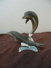 Two Dolphin Design Figurine Statue Ocean Odyssey Youngstrom