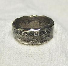 CUSTOM AUSTRALIAN MENS 2014 50 CENT COIN  RING  SIZE 13