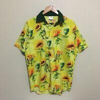 Cricket Australia Hawaiian Floral Button Shirt Mens Large